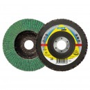 Disc lamelar frontal, multistrat, pentru polizare inox, Klingspor SMT 636 Supra, 125 x 22.23 mm, granulatie 40