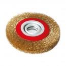 Perie circulara, pentru lustruire si decapare, pentru lemn / fier, Lumytools LT06979, diametru 150 mm