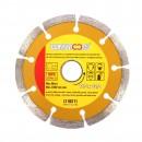 Disc diamantat, cu segmente, pentru debitare materiale de constructii, Lumytools LT08711, 115 x 22.2 mm
