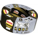 Banda adeziva, pentru reparatii, din polietilena si panza, argintiu, Moment Power Tape, 4.8 cm x 50 m