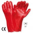 Manusi pentru protectie antiacide Marvel 1442, pvc, rosu