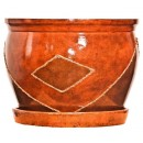 Ghiveci ceramic D20/1, maro, rotund, 20 x 16 cm