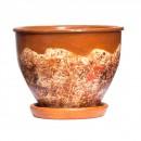 Ghiveci ceramic D20/4, diverse culori, rotund, 20 x 16 cm