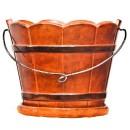 Ghiveci ceramic Butoi B, maro, rotund, 25 x 20 cm