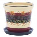 Ghiveci ceramic drept, diverse culori, rotund, D 15 cm
