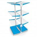 Uscator rufe tip suport vertical, albastru, din aluminiu, 83.5 x 72.5 x 138 cm