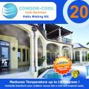 Sistem racire terasa Condor Cool 20, PVC, 6 m, 11 duze de pulverizare