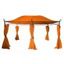 Pavilion dreptunghiular cu cadru din otel 3x4x2,7 m portocaliu DU010A