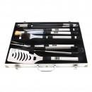 Set 10 accesorii pentru gratar Grunman Premium KY109, otel inoxidabil, 38 cm