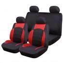 Huse auto pentru scaun, Ro Group, Sport Line, negru + rosu, set 9 bucati