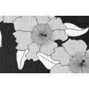 Fata de masa la rola Vibi 3 Silver 0100-387, pvc, negru, latime 140 cm