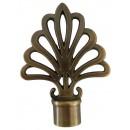 Cap galerie, evantai, 20 mm, auriu antic
