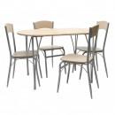 Set masa fixa cu 4 scaune DS26035B, bucatarie, crem, 1C