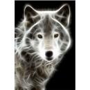 Tablou dualview DTB1887 Lup alb, canvas, stil animale, 40 x 60 cm