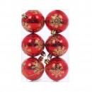 Globuri Craciun, rosu + auriu, D 6 cm, set 6 bucati, N3/6006AS132