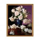 Tablou TI00506, inramat, panza canvas + rama MDF, stil floral, 40 x 50 cm