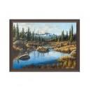 Tablou TI01167, inramat, panza canvas + rama MDF, stil natura, 50 x 70 cm