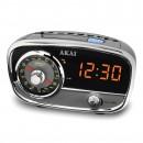 Radio FM / AM Akai CE-1401, cu ceas, alimentare retea, Aux in, functie alarma cu radio sau music player, functie Snooze