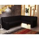 Coltar bucatarie Carina, pe stanga, negru, 222 x 170 x 90 cm 2C