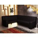 Coltar bucatarie Carina, pe dreapta, negru, 222 x 170 x 90 cm 2C