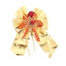 Decoratiune Craciun, tip funda, auriu + rosu, 23 x 16 cm, SYCB11-075