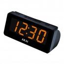 Radio FM / AM Akai CE-1003, cu ceas, alimentare retea, ecran LED 4.6 cm, alarma duala cu radio sau buzzer, functie Sleep Timer, functie Snooze, functie Dimmer