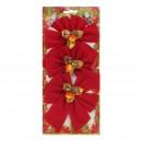 Fundite decorative Craciun, rosu+auriu, set 3 bucati, SY16HDJ-10