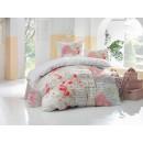 Lenjerie de pat, 2 persoane, bumbac 100%, 4 piese, cu imprimeu