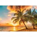 Fototapet duplex Sunset on the beach 3393P8 368 x 254 cm