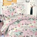 Lenjerie de pat, 2 persoane, Deluxe Pucioasa Ingrid, bumbac 100%, 4 piese, multicolor