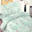 Lenjerie de pat, 2 persoane, Deluxe Pucioasa Paris bleu, bumbac 100%, 4 piese, bleu