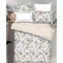 Lenjerie de pat, Caressa Carrol 06, 2 persoane, poliester 100%, 4 piese, cu imprimeu floral