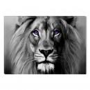 Tablou dualview BLACK1031, Regele animalelor, canvas + lemn de brad, stil animale, 60 x 90 cm