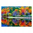 Tablou dualview DTB7245, Culorile padurii, canvas + lemn de brad, stil peisaj, 60 x 90 cm