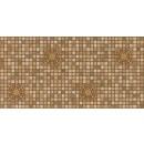 Panou decorativ Mosaic Brown Medallion, PVC, maro, 95.7 x 48 cm, 0.4 mm