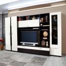 Biblioteca living Vanity, wenge + crem lucios, 312 cm, 9C