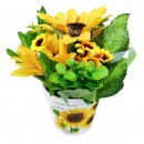 Floare artificiala CFP-30, galbena, 20 cm