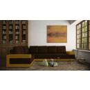 Coltar living fix pe dreapta Medina, maro + galben, 332 x 233 x 74 cm, 2C