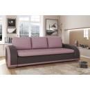Canapea extensibila 3 locuri Rondo, cu lada, maro + roz, 240 x 94 x 82 cm, 2C