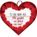 Tablou cu mesaj Valentine s Day, ES9501, inima, 22 x 20 cm