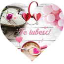 Tablou cu mesaj Valentine s Day, ES9503, inima, 22 x 20 cm