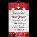Tablou mic cu mesaj Valentine s  Day, ES9924, dreptunghiular, 25 x 14 cm