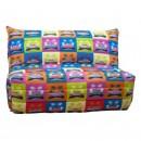 Husa pentru canapea extensibila cu 2 locuri BZ, poliester multicolor