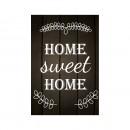Tablou PT1432 Home sweet home, panza canvas + sasiu brad, stil motivational, 60 x 45 cm