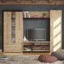 Biblioteca living Retro, sherwood + sonoma dark, 260 cm, 4C