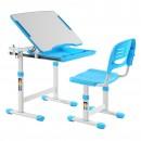Birou si scaun pentru copii C4, ajustabile, albastru, 66 x 76 x 47 cm, 1C