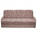 Canapea extensibila 3 locuri Dexy, cu lada, maro, 195 x 85 x 96 cm, 2C