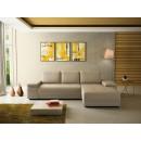 Coltar living extensibil pe stanga Pierro, cu lada, crem, 273 x 177 x 71 cm, 2C