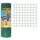 Plasa gard ornamental Voliplast, acoperita cu PVC, verde, 1 x 10 m (1,2 x 13 x 13 mm)