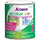 Vopsea acrilica pentru lemn / metal, Kober Ecolux, interior / exterior, pe baza de apa, galbena, 0.75 L